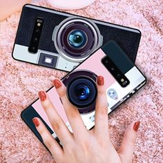 Phone Cases Covers Trendy Camera PopSocket Grip Stand Silicone TPU Galaxy S10, Galaxy S10e, Galaxy S10 Plus | | Casefanatic