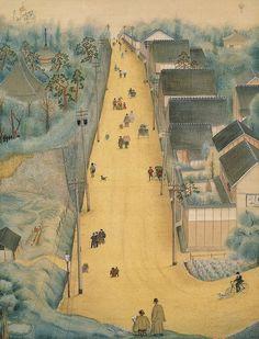 坂  1924(大正13)年 第1回青甲社展 絹本着色 1面 120.0×72.0cm 堂本印象