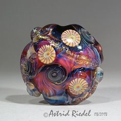 In MotionArt Glass Focal bead lampwork by Astrid by AstridRiedel, $75.00