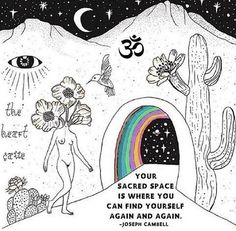 Find that sacred space where you're able to reconnect with the divine. 📷 Photo credit to the respective owners. Background Cool, Stage Yoga, Yoga Lyon, Oeuvre D'art, Trippy, Les Oeuvres, Art Inspo, Art Drawings, Cool Art