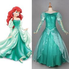 Princess Ariel Mermaid Costume Special Use: Costumes Gender: Unisex Material: Polyester Components: Dresses Characters: Other Size: Custom made Special Use: Costumes & Accessories Item Type: Costumes