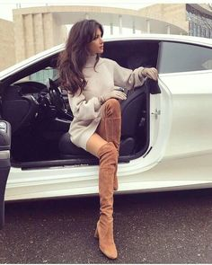 Puyallup Washington, Library for - Kniehohe Stiefel Thigh High Boots, Over The Knee Boots, Fashion Boots, Fashion Outfits, Womens Fashion, Fashion Hacks, Girls In Mini Skirts, Sexy Boots, Car Girls