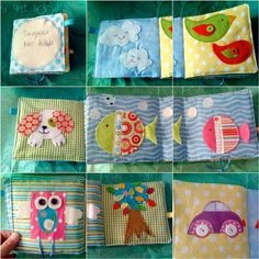 Baby's first fabric book quiet/soft book by nenimav on Etsy