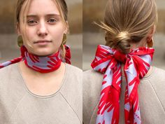 Three Ways to Wear a Neck Scarf Classy And Fab, Beige Jumpers, Plain Tees, Neckerchiefs, Neck Wrap, Neck Scarves, Scarf Styles, Looking For Women, Simple Style