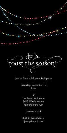 Toast The Season Holiday Party Invitation