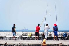 Fishing from the breakwater, Kalk Bay - Cape, Photo Galleries, Fishing, Menu, Street View, Ship, Lifestyle, Beach, Mantle