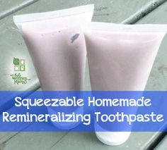 This squeezable  homemade toothpaste contains coconut oil, xylitol, calcium carbonate, trace minerals & essential oils for oral health and remineralization. Using now