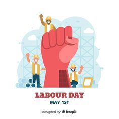Happy labour day. Download thousands of free vectors on Freepik, the finder with more than 3 millions free graphic resources Flat Design, Logo Design, Labor Day Crafts, People Logo, Flyer Design Inspiration, Yellow Theme, Labour Day, Happy Labor Day, Poster Ideas