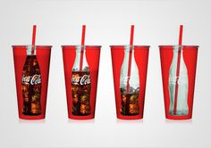 Coca Cola bottle cups