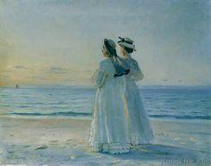 Michael Peter Ancher - Zwei Frauen am Strand von Skagen