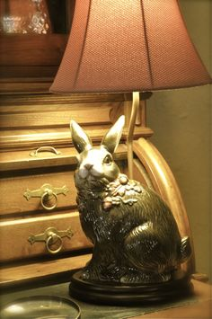 Bunny decor...with dignity - I actually have quite a collection of bunny decor. Dee