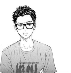 Manga Anime, Manga Boy, Moon Drawing, Manga Drawing, Anime Guys With Glasses, Anime Drawings Sketches, Hot Anime Boy, Manga Pages, Manga Characters
