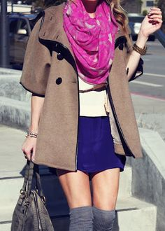 LOVE LOVE LOVE LOVE   style blogger Atlantic Pacific adds a pop of color with this Ann Taylor scarf