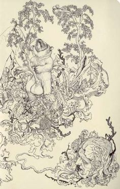 Deathly Forest Art -  James Jean Sketches.