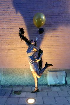 Great Gatsby party ballons 1920s