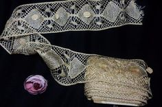 Online+veilinghuis+Catawiki:+Antique+roll+of+champagne+color+lace,++8+meters+x+8.5+cm.,+Spain,++20th+century+-+Never+used