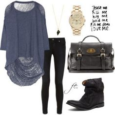 Love the shirt with black jeans