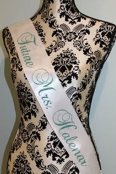 Bachelorette sash tiffany blue bachelorette by myeverydayparty