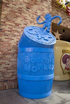 Barrel of Monkeys outside of Toy Story Mania - this is one of our favorite rides! :0)