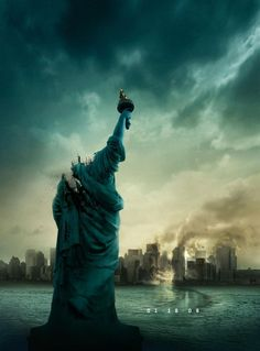 Cloverfield , starring Mike Vogel, Jessica Lucas, Lizzy Caplan, T.J. Miller. Revolves around a monster attack in New York as told from the point of view of a small group of people. #Action #Sci-Fi #Thriller