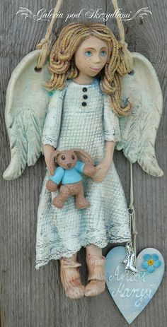 C Steele Collection Porcelain China Product Polymer Clay Dolls, Polymer Clay Projects, Pottery Angels, Clay Angel, Dremel Wood Carving, Diy Nativity, Ceramic Angels, Clay Baby, Cute Clay