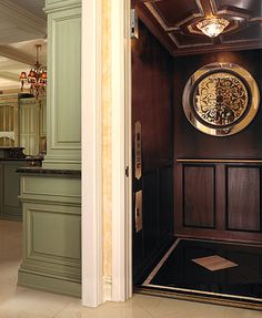 Home elevator with a classy finish.