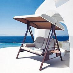 Outdoor Hammock Chair Couch Lounger Steel Frame & Cannopy Sturdy Patio Yard NEW #APatio