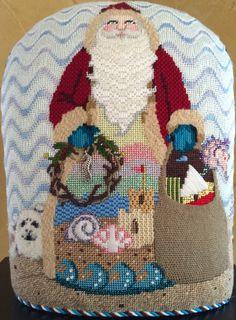 Needlepoint - Sandra Gilmore Seashore Santa by Ginger Brennecke