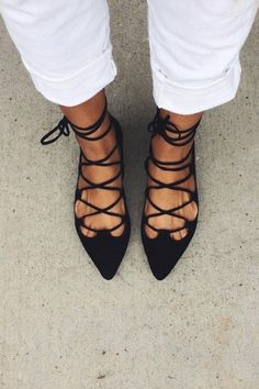 Lace-Up Flats by Billy Ella | Pinned by topista.com