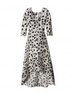 Zero + Maria Cornejo Black & White Print Isie Dress