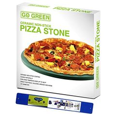 Ceramic Pizza Stone 13 Round with Magnetic Stick Man Women Summer Family Cooking Essentials ** Learn more by visiting the image link.