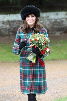 Duchess Catherine and Members Of The Royal Family Attend St Mary Magdalene Church In Sandringham