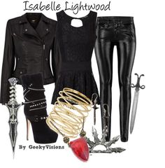 Isabelle Lightwood City of Bones Teen Fashion, Fashion Outfits, Womens Fashion, Punk Fashion, Lolita Fashion, Fashion Boots, Shadowhunters Outfit, Pretty Outfits, Cool Outfits