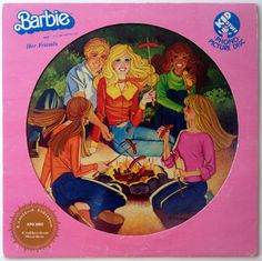 Barbie and Her Friends Picture Disc LP Vinyl Record Album, Kid Stuff Records - KPD 6003, 1981, Original Pressing