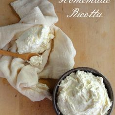 Homemade Ricotta, the whey can also be used to make more ricotta, do Internet search for it. /J