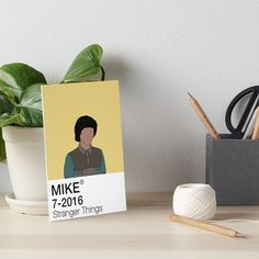 'Mike Wheeler - Stranger Things' Art Board Print by fictiophilia Velcro Dots, Fandom Outfits, Watercolor Texture, Sell Your Art, Stranger Things, Art Boards, Print Design, It Works, Card Making