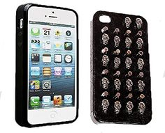 Iphone 4 / 4s Punk Studded Skull (Leatherish) Protective Case (Skull Studded). Hybrid Case Soft Silicon Rubber Bumper with Rivets Model for hardcore effect. Silicone inner case, leather surface, and metal studs. Fully accessible to all ports and controls. Ultra slim and light design. Specially designed for all fashion-forward trendsetters. Kind Note: All Valued Buyers gets a confirmation email from Cute & Catchy as soon as Amazon ship PinK MeLoN product, so please be aware that if you…