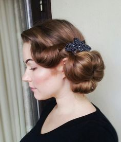 Quick and easy but formal hairdo #vintage #hair #wedding