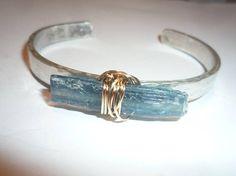 Cuff bracelet Sterling Silver cuff bracelet Wire wrapped