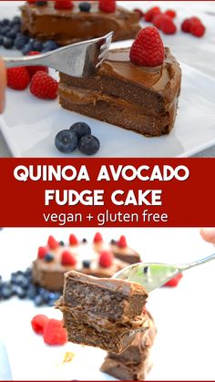 Vegan Healthy Quinoa Chocolate Cake - flour and egg free with a chocolate avocad. - Vegan Healthy Quinoa Chocolate Cake – flour and egg free with a chocolate avocado frosting - Quinoa Chocolate Cake, Quinoa Cake, Chocolate Fudge Cake, Vegan Chocolate, Chocolate Frosting, Quinoa Food, Vegan Fudge, Chocolate Custard, Chocolate Lasagna