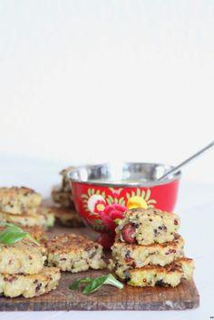Croquettes de quinoa: noisettes-citron confit-courgettes