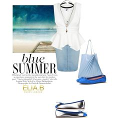 Blue (summer) Shoes by helenevlacho on Polyvore featuring Paige Denim, Sabrina…