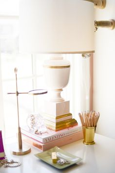 alice lane home collection blush lamp on Pink Peonies by Rach Parcell
