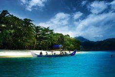 Kiluan Bay in Lampung Indonesia.