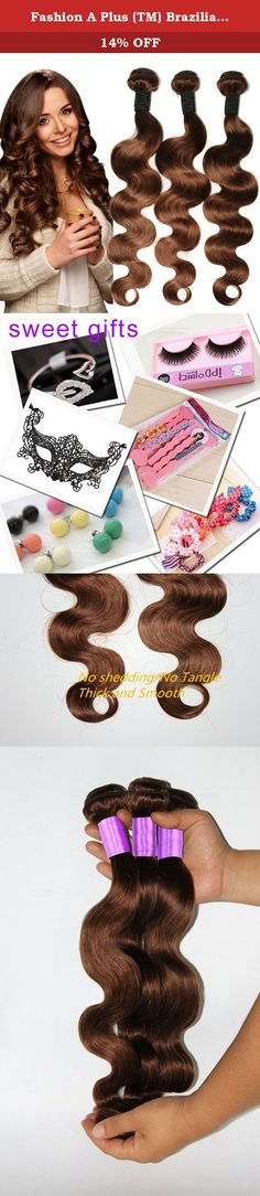 """Fashion A Plus (TM) Brazilian Hair Extensions Body Wave 3 Bundles Natural Hair for Extension #4 Medium Brown 300g Per Lot 7A Grade (16"""" 18"""" 20""""). All of our Hair is 100% human virgin hair. This is ideal for adding length and volume or color without causing damage to your own hair. Made from 100% high quality human hair. The double weft uses environmentally friendly glue that does no harm to the scalp. Hair Extension Type:Weaving Items per Package:3 Pieces/Order Unit…"""