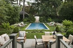 Residential Preservation  Tudor Master   TraditionalNeoclassical  Pool by Eberlein Design