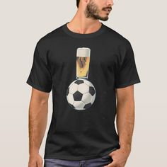 I tribute to the worlds most popular game and perhaps its most popular drink! Most Popular Drinks, Most Popular Games, Tshirt Colors, Fitness Models, Soccer, Beer, Unisex, Casual, Sleeves