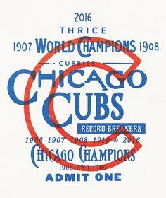 Vintage Graphic Design Cubs win design poster More - Vintage Typography, Typography Letters, Typography Poster, Graphic Design Typography, Hand Lettering, Branding Design, Logo Design, Type Design, Badge Design