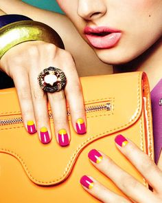 Top 10 Nail Trends: Do It Yourself Gel Manicure Cute Summer Nail Designs, Cute Summer Nails, Cute Nails, Neon French Manicure, French Manicures, Neon Nail Colors, Hena, New Nail Trends, Long Nails