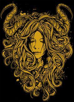 taurus of the earth Sun In Taurus, Taurus Love, Taurus Woman, Capricorn, Dan Mumford, Zodiac Art, Skull Art, Dark Art, Horns